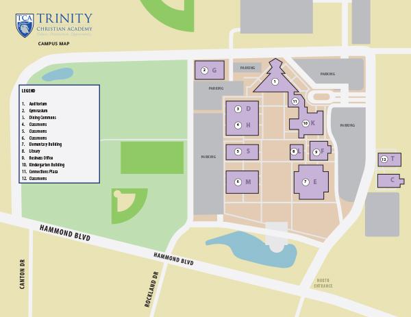 TCA Campus Map